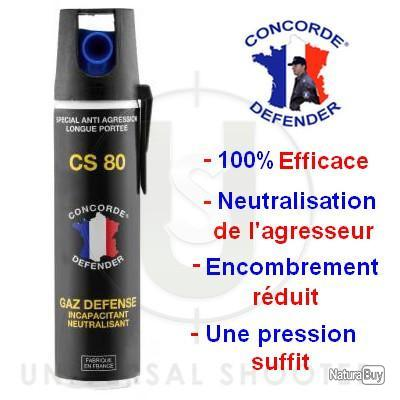 Aérosol anti agression GAZ Incapacitant et neutralisant Cs 80 75ml