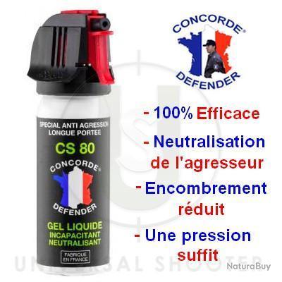Aérosol anti agression GEL Incapacitant et neutralisant Cs 80 50ml