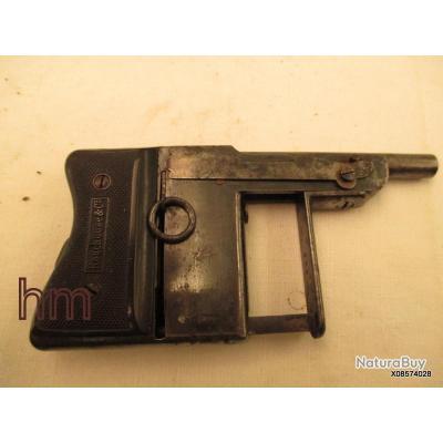 rare pistolet a systeme  ROUCHOUSE saint etienne calibre 6 mm  fonctionnement parfait