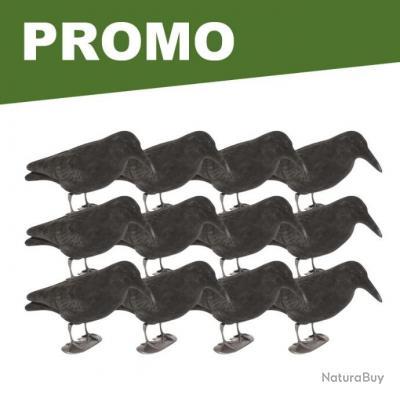 12 formes de corbeaux floquées