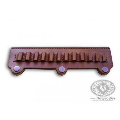 VALGANCH - Cartouchière clips de ceinture-12 coups- pour calibres 8 et 9 mm