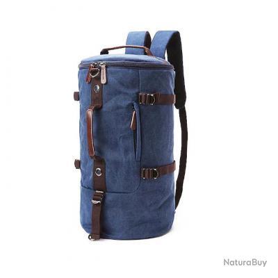 Sac Multifonction 2 en 1 sac Voyage et sac à dos 2 en 1 canvas et cuir