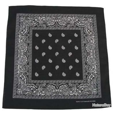 Bandana Coton 55x55cm MFH Couleur:Noir
