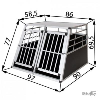 cage box caisse de transport chien mobile alu 13c cages caisses sacs et remorques de. Black Bedroom Furniture Sets. Home Design Ideas