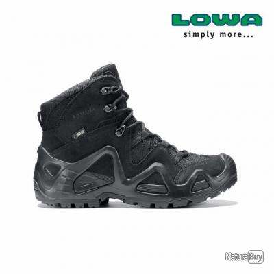 Chaussures Rangers Lowa Zephyr mid Gore-Tex noires  / gtx Task Force TF