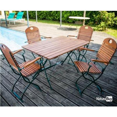 Habrita Foresta - Composition mobilier jardin FLORA Table 4/6 pers ...