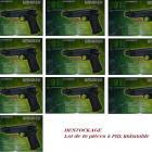 Lot de 10 pistolets Soft Air 2015 électrique en Destockage