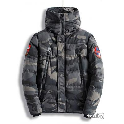 first rate outlet for sale new arrivals Blouson Parka Grand froid - Militaire et chasse - Kaki Camouflage