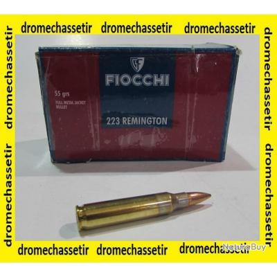 lot de 10 boites de 50 cartouches Fiocchi, cal 223 remington , FMJ, 55 Grains