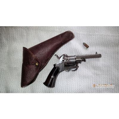 Revolvers le faucheux 6 coups calibre 7 mm avec 1 balle et holsters
