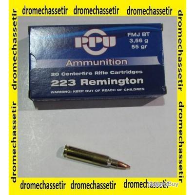 lot de 10 boites de 20 cartouches Partizan, cal 223 remington , FMJ, 55 Grains