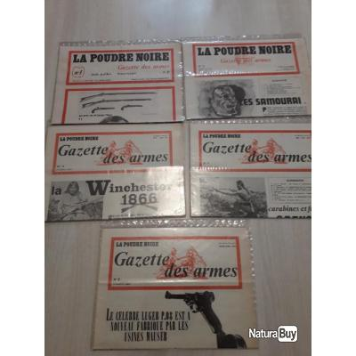 Les 5 premiers numéros originaux de la poudre noire gazette des armes