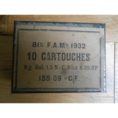 Boite vide cartouches Mortier Francais 81mm Modèle 1932