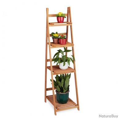 Escalier étagère meuble pour plantes bois jardin pot 161 cm 2013081