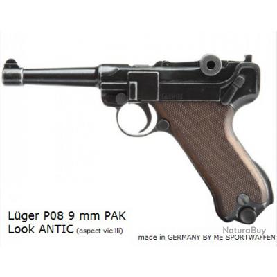 ARME DE POING MYTHIQUE ! LUGER P08 9mm PAK - Idéal COLLECTIONNEURS ! - PACK COMPLET !