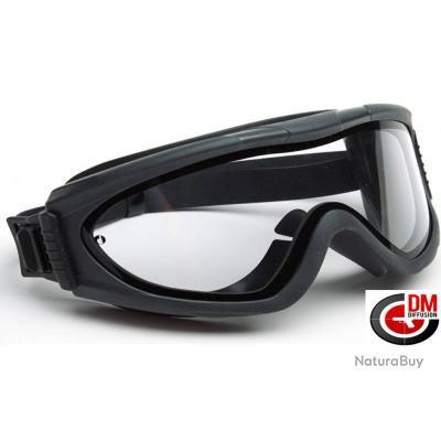 DMoniac Masque de protection Tactical Double ecran premium. (Lunette  transparente) 428de6a80f9f