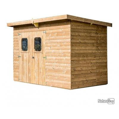 Habrita Foresta - Abri de jardin monopente en bois 19mm 7,32 m² ...