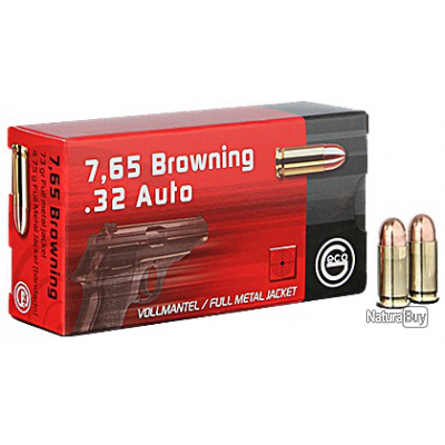 Munitions GECO 7.65 Browning / 32 ACP fmj 73gr
