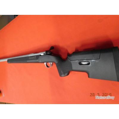 Carabine Sabatti Rover Tactical chrome, calibre 308w, canon de 21mm de diamètre