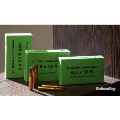 Munitions DORFNER calibre .450 Express  11,2 x 60 R ou 65, 72, 82 mm de long boite de 20 munitions