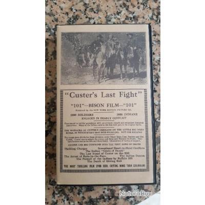 """Film VHS rare  """" CUSTER'S Last Fight"""" Bataille de la little big horn"""