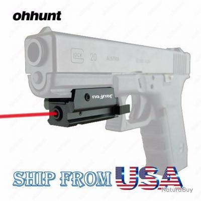micro viseur point rouge laser pour rail picatinny pour tout pistolet et revolver neuf lasers. Black Bedroom Furniture Sets. Home Design Ideas