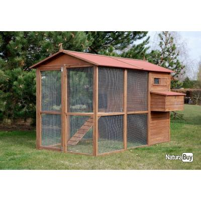 poulailler 10 12 poules abri caille clapier pintade enclos 13cl poulaillers clapiers enclos. Black Bedroom Furniture Sets. Home Design Ideas