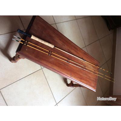 vend canne a mouche en bambou refendu ritz fario club super parabolic ffp 2,57m 8,5 P 152GRS 53/8OZ