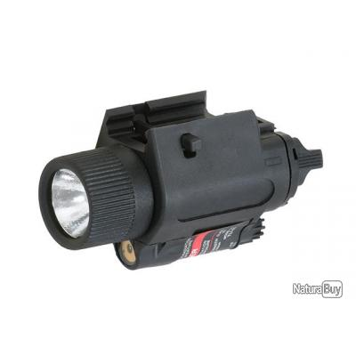 Combo Weapon Flashlight/Red laser 350lm - Black - 931