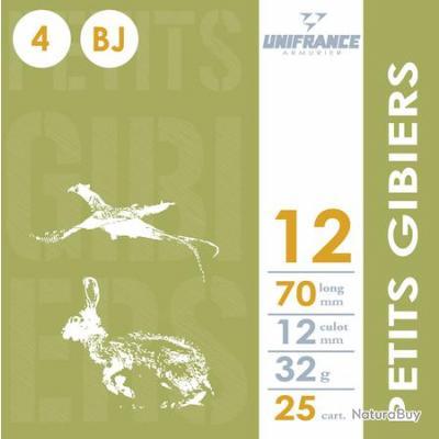 Munitions petits gibiers 12 Plbs 10 x 10 boites - UNIFRANCE