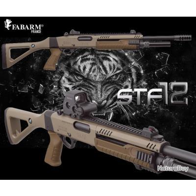 """FABARM Fusil a Pompe STF-12 PISTOL GRIP F.E. """"PROMO BLACK DAY$"""" Crosse Fixe Cal 12/76 Canon 46"""