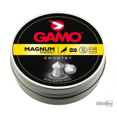 2 Boites de Plombs Gamo Magnum Energy cal. 4.5 mm  BOITES 500