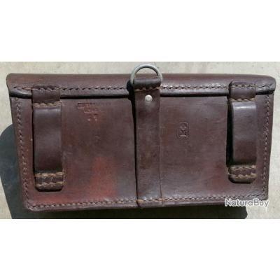 Cartouchière de ceinture en cuir de luxe 1er choix - Porte-chargeurs ... c62786dc7fd