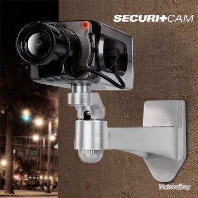 Fausse caméra de surveillance Rotative T6000 avec capteur mouvement avec point lumineux + fixation
