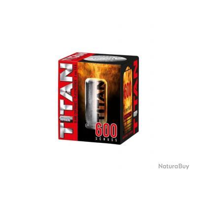 600 X Balles a Blanc TITAN Cal. 9mm PAK pour Pistolets Ekol, Chiappa, Umarex, Walther...SUPER PRIX