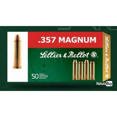 Munitions 357 mag SELLIER BELLOT 158 grs FMJ par 500
