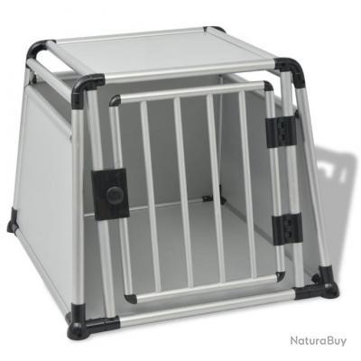 cage chien voiture 76x84x66cm alu cages caisses sacs. Black Bedroom Furniture Sets. Home Design Ideas