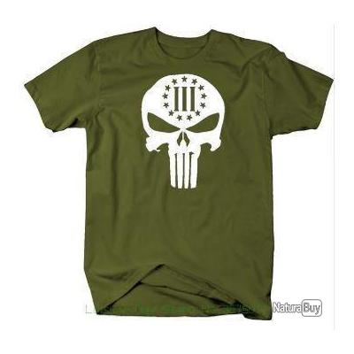 Airsoft4864160 Punisher Army T Tee Shirt TF3KJlu1c