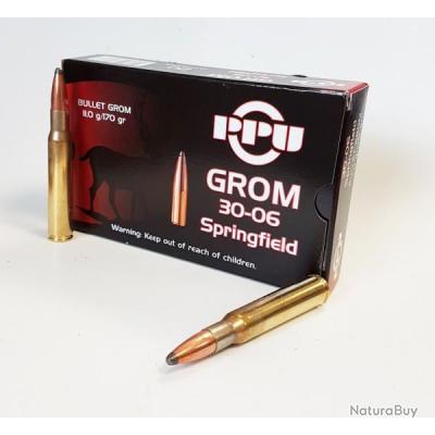 2 boites PPU partizan de 20 cartouches de calibre 30-06 Springfield 170-Grs. ogive GROM