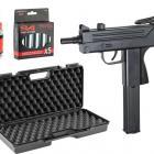PACK COMPLET PROMO Cobray Ingram M11 Co2 4.5 mm avec MALETTE, CO2 et 1500 billes Acier 4.5mm UMAREX