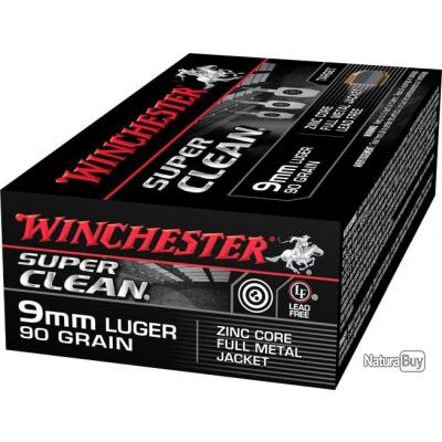 Munitions Winchester Super Clean 9mm Luger 90 grains fmj PAR 500