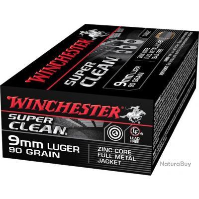 Munitions Winchester Super Clean 9mm Luger 90 grains fmj PAR 1000