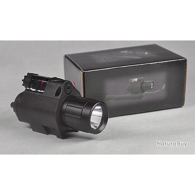 Extra Lampe Laser 2 En 1 Sur Rail Picatiny Weaver 20 22mm Lasers