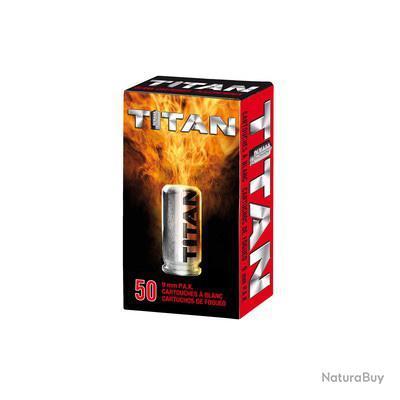 Boîte de 50 cartouches cal. 9 mm PAK à blanc TITAN UMAREX PROMO