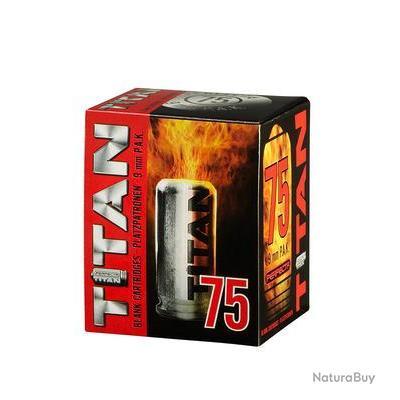 Boîte de 75 cartouches cal. 9 mm PAK à blanc TITAN UMAREX PROMO