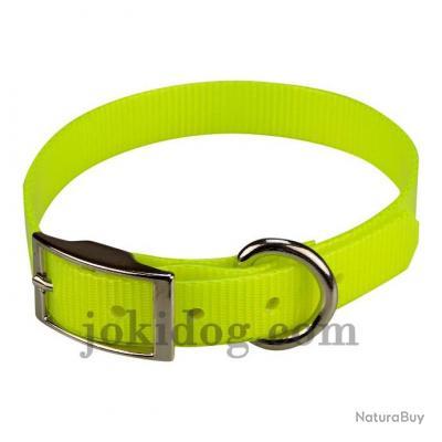 collier HUNT US 19 x 45 cm Jaune - biothane - jokidog