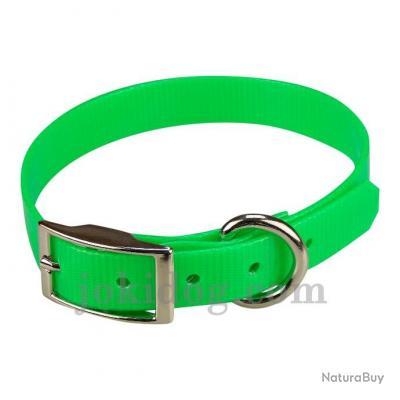 collier HUNT US 19 x 45 cm Vert - biothane - jokidog