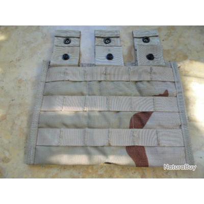 cartouchière porte chargeur US army camouflé airsoft 5,56 3 compartiments