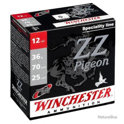 CARTOUCHES WINCHESTER ZZ PIGEON ELECTROCIBLE cal .12/70 N°7.5