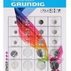 20 piles boutons assorties Grundig DLU : 06-2023 NEUF AVEC SUIVI